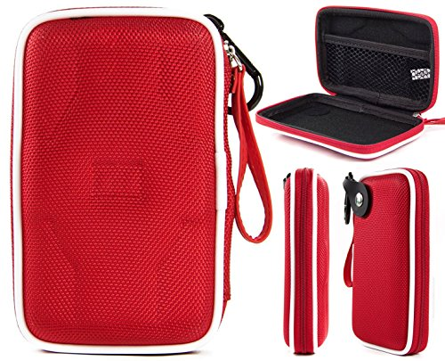 Fiesta Red EVA On-The-Go Storage Case for Fitness Tracker Wristband Like Fitbit Flex, Charge, Charge HR, Blaze, Surge