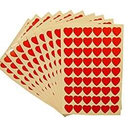 Officeship Motivational Stickers, Teacher Created Resources Encouraging Stickers-Heart-100 Sheet
