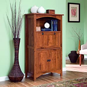 fantastic computer armoire by riverside burnished cherry antique black