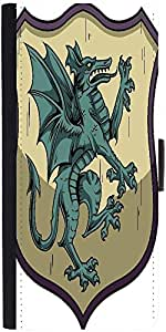 Snoogg Crests Vector Element Designer Protective Phone Flip Case Cover For Xolo One Hd