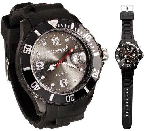 Riccardo® Silikon Uhr - ice schwarz