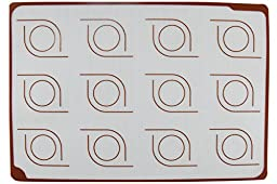 Homankit Silicone Baking Mat for Macarons, Half Sheet Size 11 5/8\