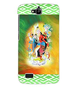 ColourCraft Ardhnarishwar Design Back Case Cover for HUAWEI HONOR HOLLY