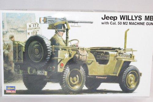 Jeep Willys MB USA Army 2. Weltkrieg Kit Bausatz 1/24 Hasegawa Modell Auto mit individiuellem Wunschkennzeichen