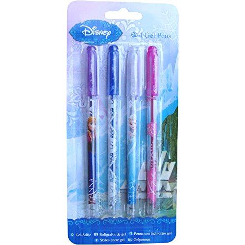 Disney - Bolígrafos con tinta de gel (4 unidades), diseño de Frozen
