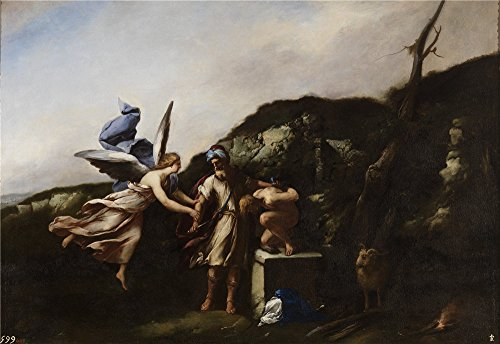 Oil Painting 'Giordano Luca El Sacrificio De Isaac 1655 ' Printing On High Quality Polyster Canvas , 20 X 29 Inch / 51 X 74 Cm ,the Best Game Room Decoration And Home Gallery Art And Gifts Is This Reproductions Art Decorative Canvas Prints