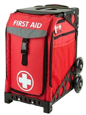 Zuca Sport Insert Bag, First Aid (Red w White Cross) w  Sport Frame Black (Non... by ZUCA