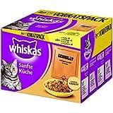 Whiskas Sanfte Küche Katzenfutter Gegrilltes Geflügel, 48 Beutel (2 x 24 x 85 g)