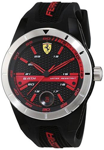 Scuderia Ferrari OROLOGI Hombre Reloj de pulsera Red Rev T analógico de cuarzo silicona 0830253