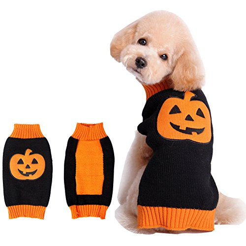 Pet Holiday Halloween Pumpkin Pet Clothes Dog Sweater