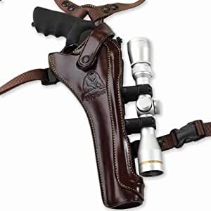 Galco Kodiak Hunter Shoulder Holster (Dark Havana Brown), 8 3/8-Inch S&W X FR 500 with Scope, Right Hand