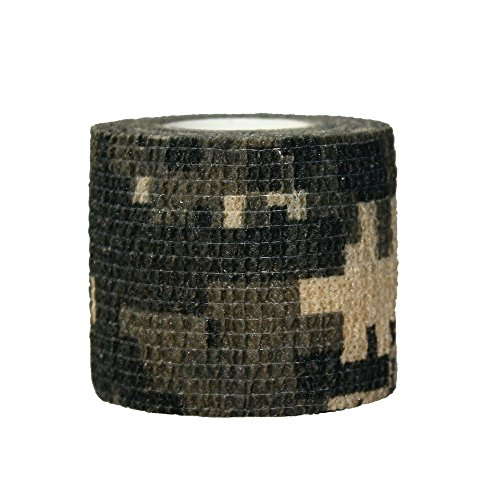 3 Rolls Outdoor Military Telescopic Camouflage Tape for Hunting Gun Accessories Cycling Tool Protective Camouflage Camo Fabric Wrap-03 (Gun Tape compare prices)