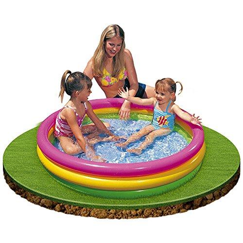 Intex - Sunset, piscina hinchable con 3 aros, capacidad 136 litros, 114 x 25 cm, multicolor (57412)