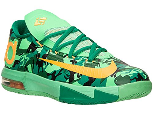 Boys Nike KD 6 GS Basketball schuhe Light Lucid GreenAtomic