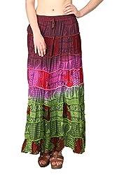 Shararat Women's Skirt (9111_Multi Color_Free Size)