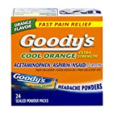 Goody's Cool Orange Extra Strength, Analgesic Powder, 24 Count