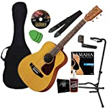 Yamaha FG JR1 3/4 Size Acoustic Guitar BUNDLE w/Gig Bag & Legacy Kit (Tuner, Picks, Strings & Much More)