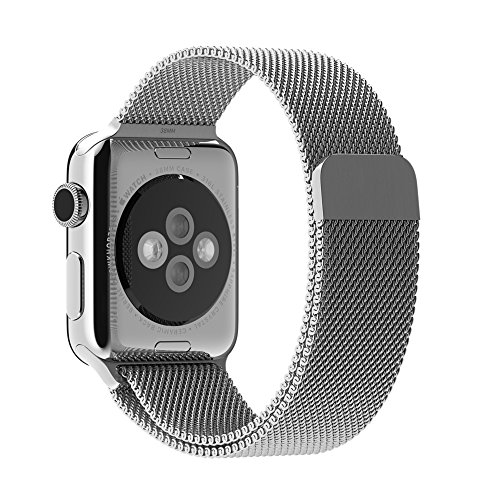 Apple Watch Band Silver Milanese Loop