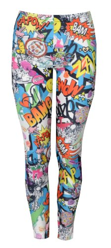 Womens-Bang-Wow-Zap-Brightly-Coloured-Leggings