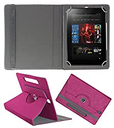 Acm Designer Rotating Case For Amazon Kindle Fire Hd 8.9 Stand Cover Dark Pink