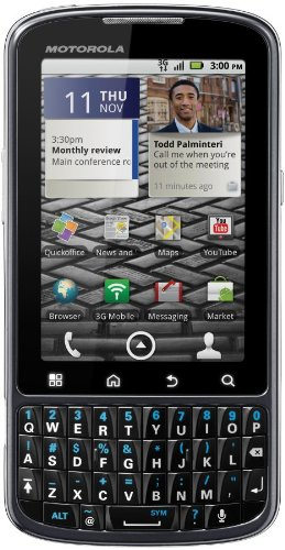 Motorola Droid Pro XT610 Unlocked GSM Phone with Android 2.2 OS, 5MP Camera, Wi-Fi and GPS - Black