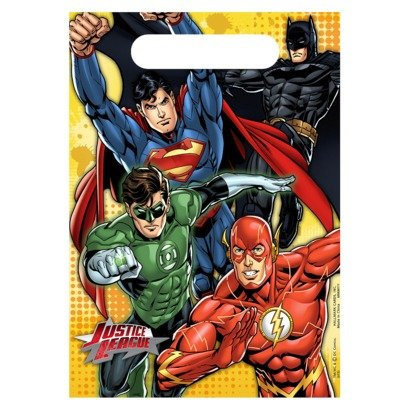 Justice League Party Favor Treat Bags - 8 Count