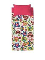 Valentina Juego De Sábanas Owls (Fucsia/Multicolor)