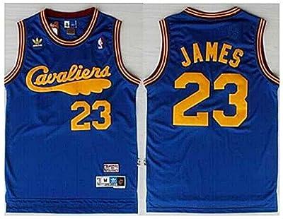 Lebron James Cleveland Cavaliers Jersey Throwback Cavs Cava Blue Size L