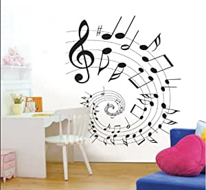 Angelwall home decor vinyl wall sticker music for Amazon mural wallpaper