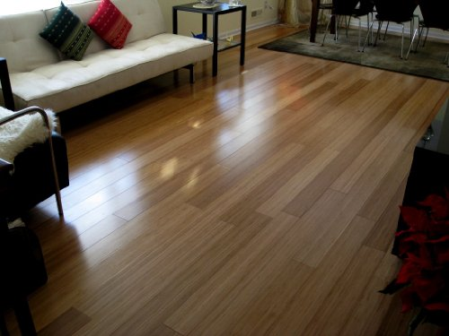 Bamboo Carbonized Vertical Plank Flooring