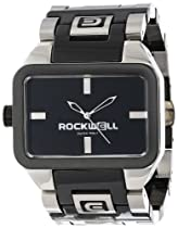 Rockwell Time Unisex DT105 Duel Time Stainless Steel Ceramic Black with Black Watch