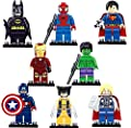 Dargo Compatible SuperHeroes Set Marvels Avengers Batman Superman Wolverine Spiderman Hulk Iron Man Thor Captain America Mini Figures Blocks Toys