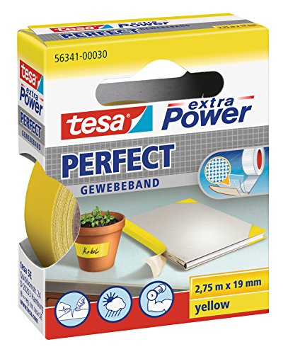 Tesa-56341-00030-03-Gewebeband-gelb