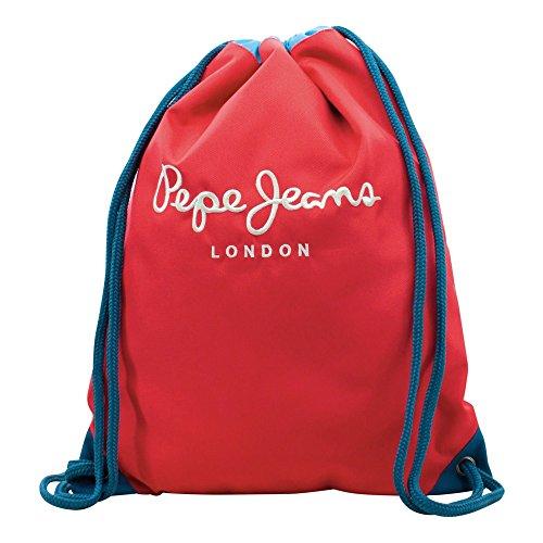 Pepe Jeans Bicolor Boy Zaino Casual, Poliestere, Rosso, 44 cm