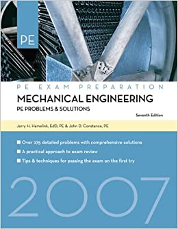 mechanical engineering problems solutions pe exam preparation jerry hamelink john