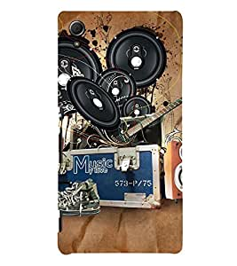 Music Design Cute Fashion 3D Hard Polycarbonate Designer Back Case Cover for Sony Xperia Z4