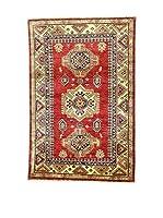 Eden Carpets Alfombra Kazak Super Rojo/Multicolor 156 x 103 cm
