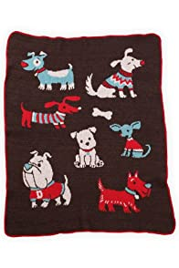 Green 3 Apparel Recycled Doggies Throw (Brown)