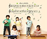 お洒落な音符/憧れの楽譜/優れた音楽♪北欧風ウォールステッカー ウォールステッカー
