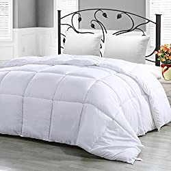 Twin Comforter Duvet Insert White - Hypoallergenic, Plush Siliconized Fiberfill, Box Stitched, Down Alternative Comforter, Protects Against Dust Mites and Allergens - By Utopia Bedding