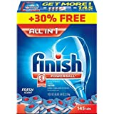 Finish Powerball Tabs Dishwasher Detergent Tablets, Fresh Scent, 145 Count