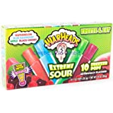 Warheads Extreme Sour Freezer Pops Freeze and Eat 10 Pops Pack of 2 (20 Pops Total)