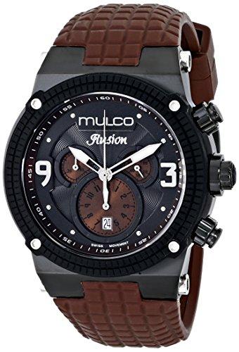 Mulco MW3 12140 035 marrón correa de la esfera de color negro reloj de los hombres