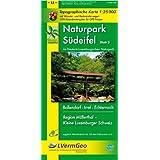 Naturpark Südeifel /Irrel, Bollendorf, Echternach, Region Müllerthal - Kleine Luxemburger Schweiz (WR): Naturparkkarte 1:25000 mit Wander- und Radwanderwegen