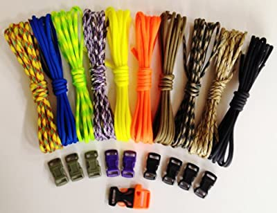 X-cords #1 Paracord Bracelet Kit- Make Survival Bracelet Kits.(includes Instructions)access to Over 20 Free Videos, We Gauranteed You Can Make Them! All Paracord Is 550 7 Strand and Made in the USA! Wear a Bracelet That Could Save Your Life! Make, Wear, S