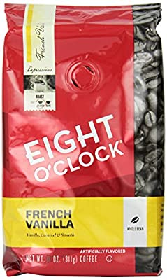 Eight O'Clock French Vanilla Whole Bean Coffee, 11-Ounce Bags (Pack of 6) by Eight O Clock Coffee Company