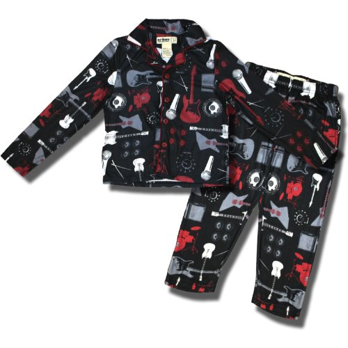 "Urban Pipeline Rhythm Section""Coat-Style Pajamas For Boys In Black - 10"