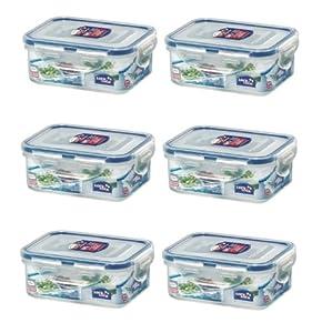 (Pack of 6) Lock & Lock, BPA Free, 100% Water Tight, w Dividers, Food Storage... by LockandLock