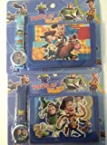 Lot of two 2 Toy Story 3 movie Watch wristwatch and Purse Wallet Set For Children ~ BUZZ Lightyear in the Watch Woody and Horse (Bullseye) in the wallet with Jessie Slinky Dog the Alien T-Rex in Watches are different tone of blue