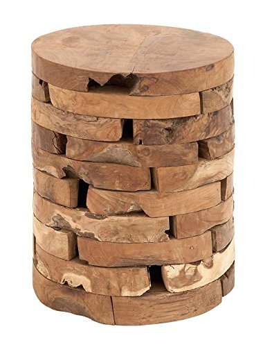 Deco 79 Teak Wood Stool, 14 by 18-Inch